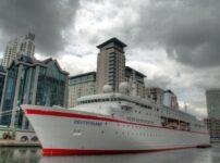 German Cruise ship tests London 2012 preparations