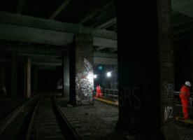 Photos –  The railway tunnels underneath Smithfield Meat Market
