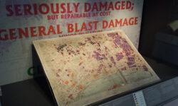 Bomb damage map on display