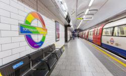 Rainbow roundel appears on the tube