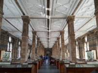 A pillared hall full of glittering stones