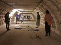 When a WW2 tunnel full of salads meets modern art