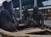 Refugees as art in Spitalfields