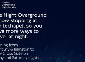 Night Overground to call at Whitechapel from tonight