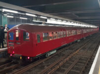 Take a trip in a vintage tube train to Heathrow airport
