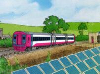 Testing a solar powered railway