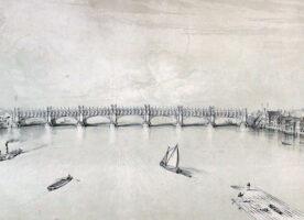 Unbuilt London: A gothic iron bridge across the Thames