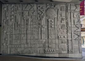 Concrete art on the Cavendish hotel car park