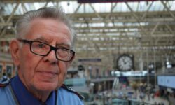 Britain's longest serving railway employee retires from Waterloo station