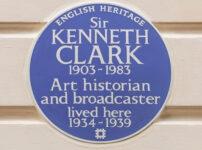 Blue Plaque celebrates Sir Kenneth Clark of Civilisation TV series fame