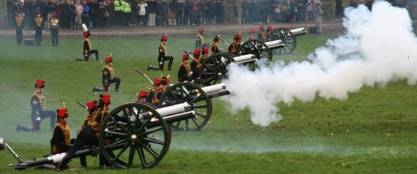 Royal Gun Salutes in Hyde Park and at the Tower of London