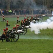 Royal Gun Salutes in Green Park and at the Tower of London