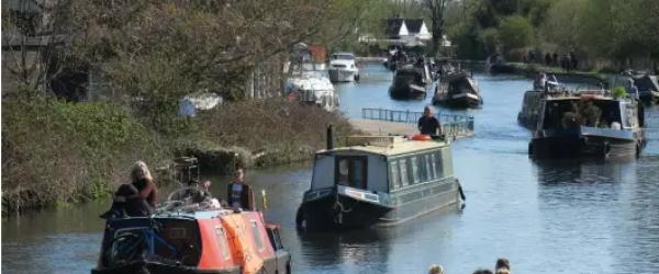 See a flotilla of boats in Hackney