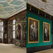 The Great Chamber contrasted with the private painted rooms of the 17th Century