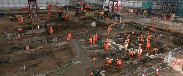 Archaeology of St James' burial ground